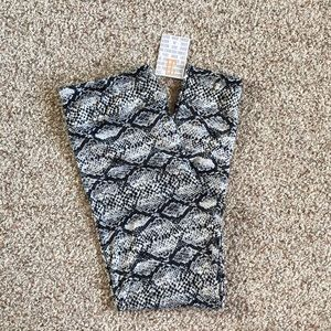Lularoe Black & White Snake Print TC Leggings NWT